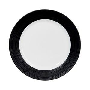 Talerz Stripes Dark Black, 21 cm