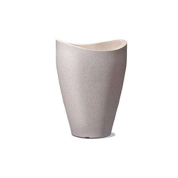 Donica ogrodowa Wave 80x39,5 cm, brązowa