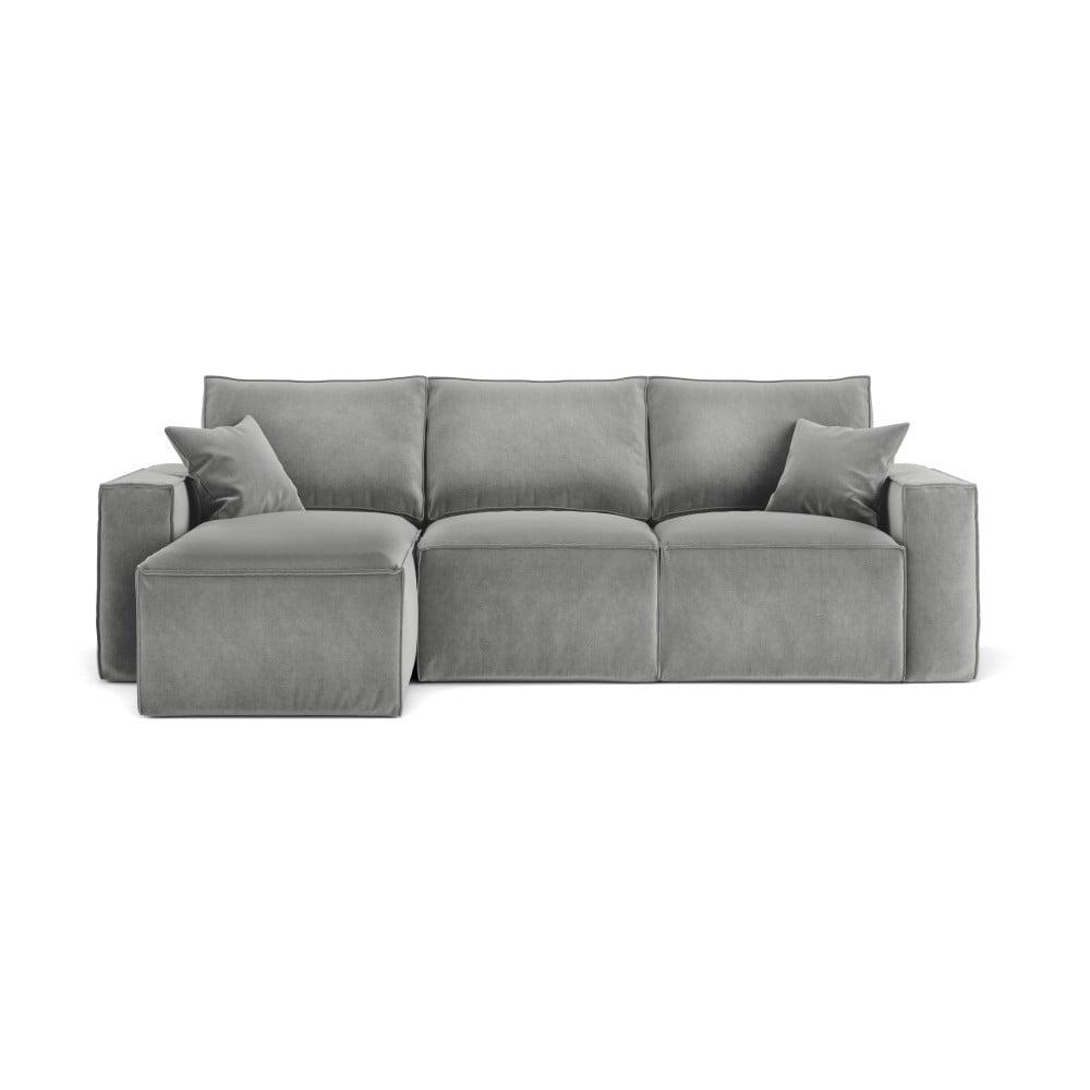 Szara narożna sofa Cosmopolitan Design Florida, lewostronna