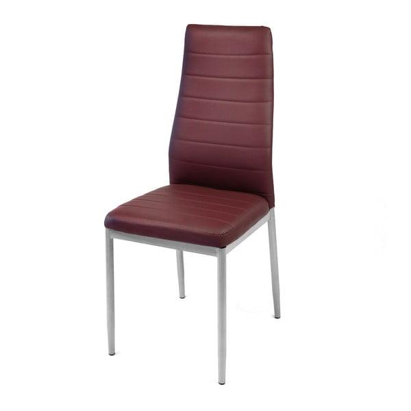 Krzesło Queen, bordowe/szare nogi