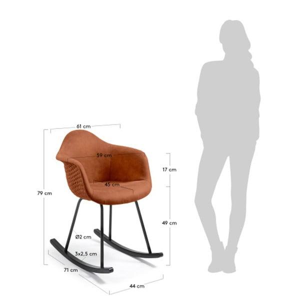 Brązowy fotel bujany La Forma Kenna