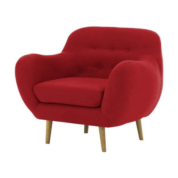 Czerwony fotel Vivonita Gaia