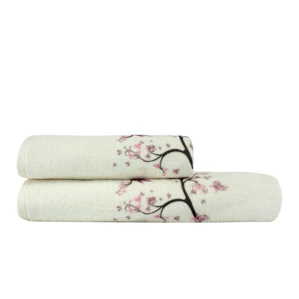 Komplet ręcznika i ręcznika kąpielowego Bahar