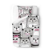 Pościel Butter Kings Grey Kitties, 140x200 cm