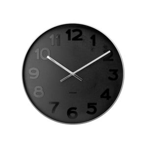 Czarny zegar Present Time Mr. Black