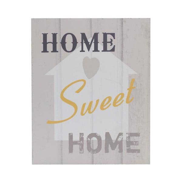 Drewniany obraz Home Sweet Home, 20x25 cm
