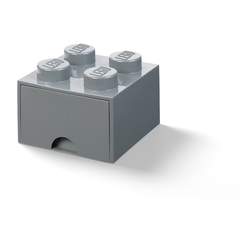 Ciemnoszary dziecięcy pojemnik z szufladą LEGO®