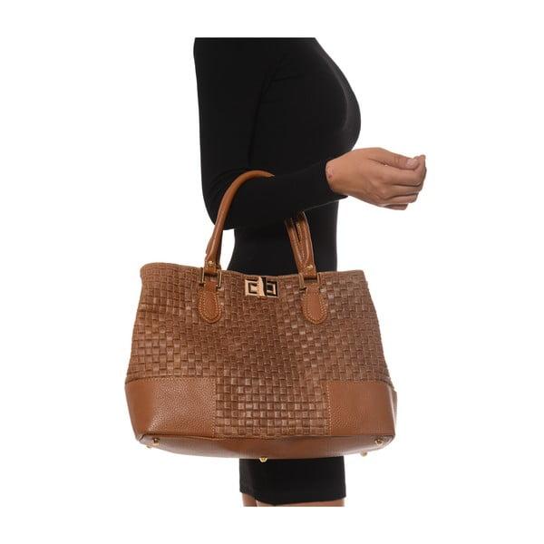 Skórzana torebka Coge, brązowa