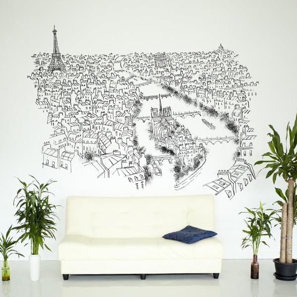 Naklejka Paris River Seine, 110x145 cm
