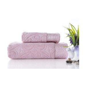 Zestaw 2 ręczników Hanzade Pink, 70x140 i 50x90 cm