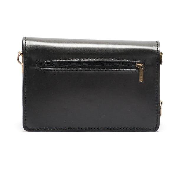 Skórzana torebka Mangotti 3041, czarna