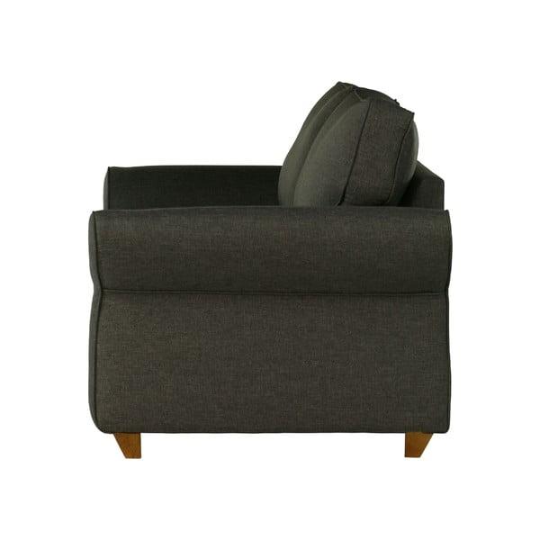 Ciemnoszara   sofa trzyosobowa Wintech Toty Sawana