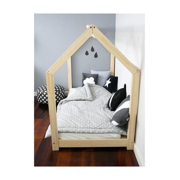 Drewniane łóżko dziecięce w kształcie domku Benlemi TERY, 90x190 cm