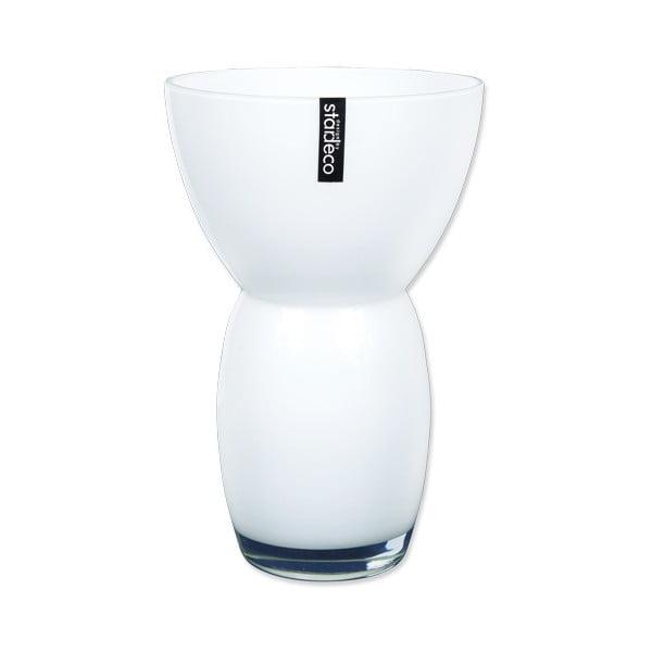 Szklany wazon Fornio, biały