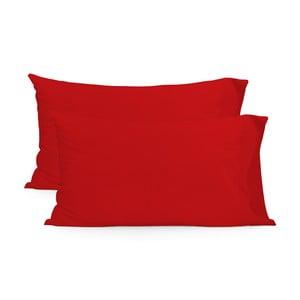 Zestaw 2 czerwonych poszewek na poduszki HF Living Basic, 50x80cm
