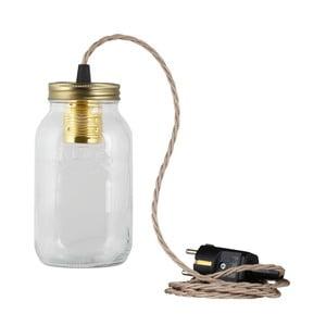 Lampa JamJar Lights, szaro-brązowy skręcony kabel