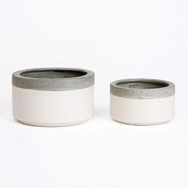 Ceramiczna osłona na doniczkę Jungle Krem, 9x16 cm