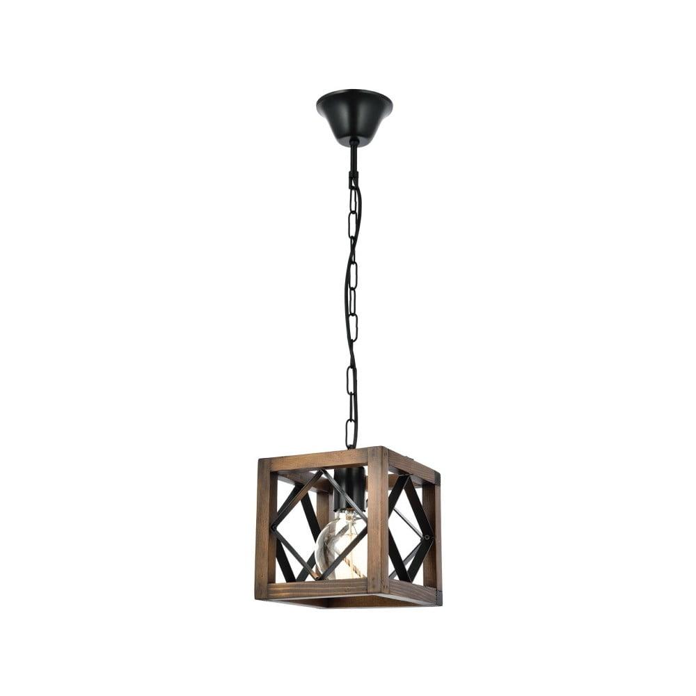 Lampa wisząca z drewna grabu Zikzak Rustik Ceviz