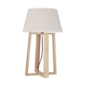 Lampa stołowa z drewnianą podstawą Simon