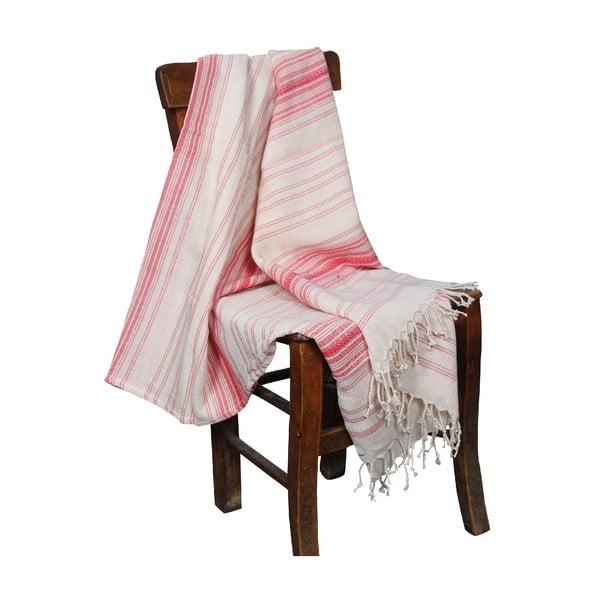 Czerwony ręcznik hammam Artemis Red, 90x190cm