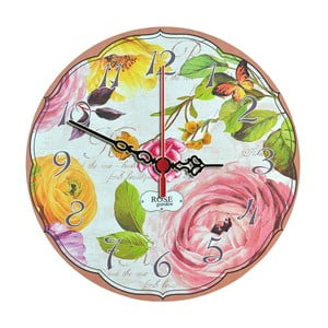 Zegar ścienny Rose Garden, 30 cm
