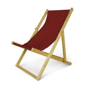 Regulowany leżak drewniany JustRest, bordowe