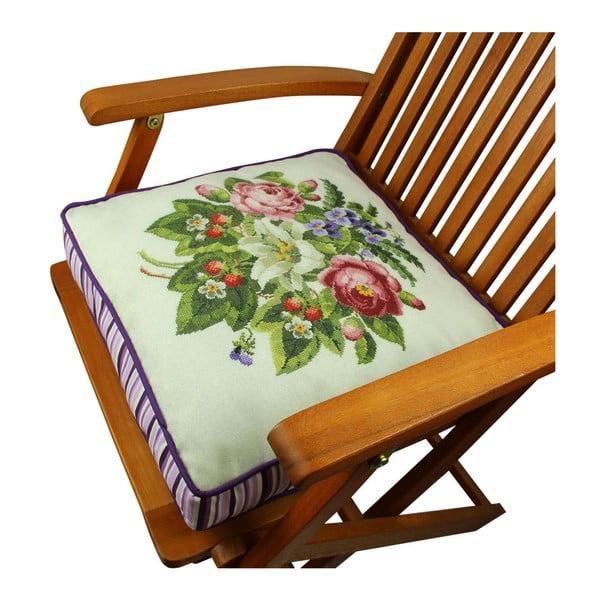 Poduszka na krzesło z wypełnieniem Crawley, 42x42 cm