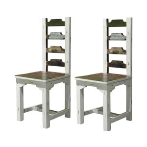 Zestaw 2 krzeseł drewnianych do jadalni Støraa Bond