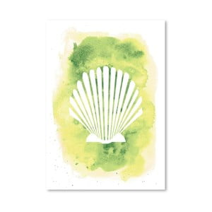 Plakat Watercolor Scallop Shell