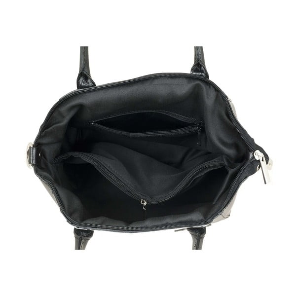 Skórzana torebka Gress Pois Black