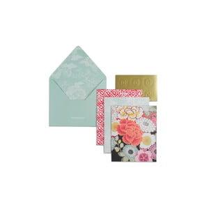 Pudełko z 12 kartkami na życzenia i kopertami Portico Designs Monsoon