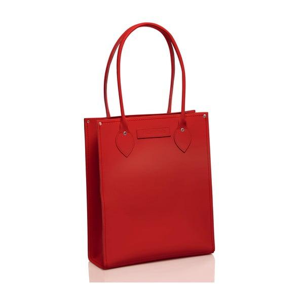Skórzana torebka Tote, czerwona