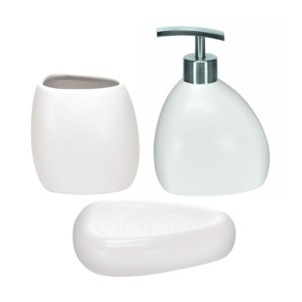 Zestaw akcesoriów łazienkowych Ethno White
