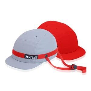 Kask rowerowy Krust grey/red/red z zapasową czapką, rozmiar S