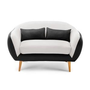 Sofa dwuosobowa Meteore Black/White