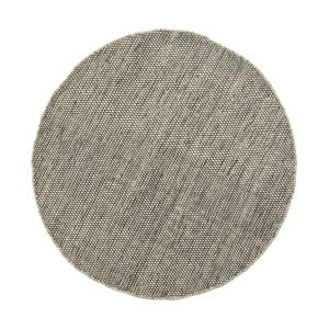 Szaro-beżowy dywan wełniany Asko,90 cm