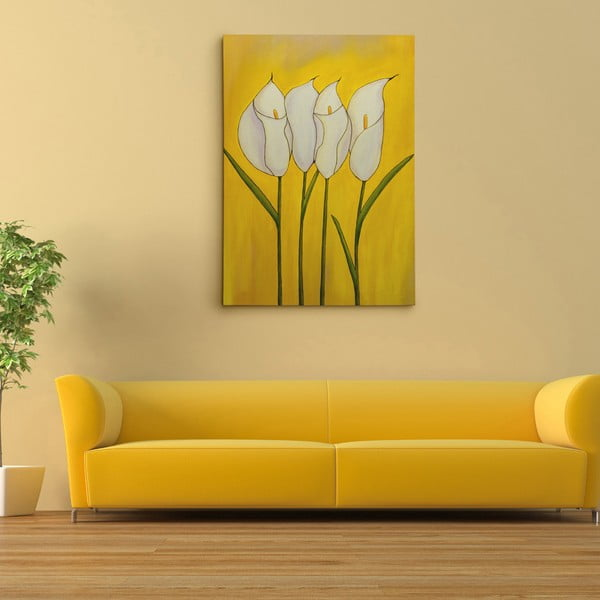 "Obraz na płótnie ""Biała kalia"", 50x70 cm"