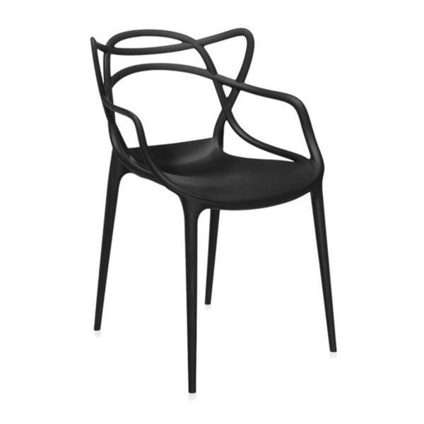 Czarne krzesło Kartell Masters