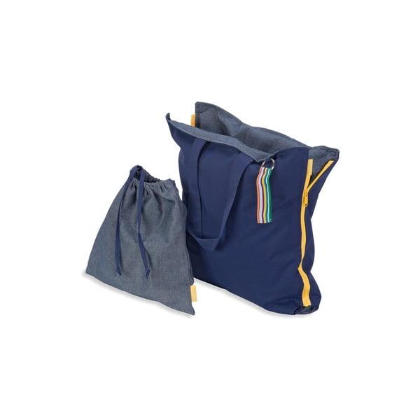 Przenośne siedzisko + torba Hhooboz 100x50 cm, granatowe