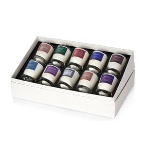 Zestaw 10 małych świeczek zapachowych Bahoma Chic Collection, 13 godzin