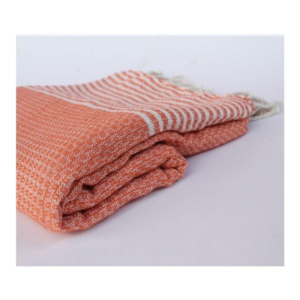 Peshtamal Stripy Orange, 100x180 cm