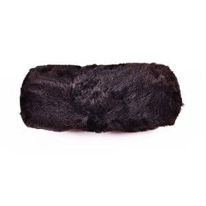 Poduszka futrzana wałek Blacky, 20x50 cm