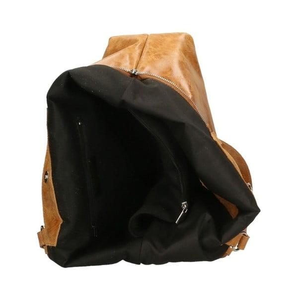 Karmelowa torebka skórzana Chicca Borse Terracia