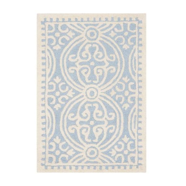 Dywan wełniany Marina Blue, 91x152 cm