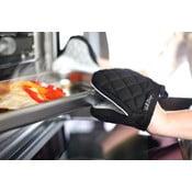 Czarno-biała bawełniana łapka kuchenna z silikonem Vialli Design