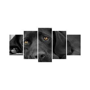 Wieloczęściowy obraz Black&White no. 55, 100x50 cm