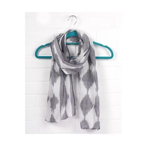 Szal Diamond Ikat Charcoal