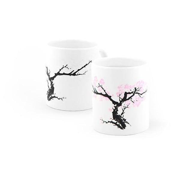 Kubek ceramiczny reagujący na ciepło Kikkerland Blossom, 325 ml