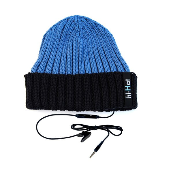 Czapka Hi-Hat ze słuchawkami, niebieska