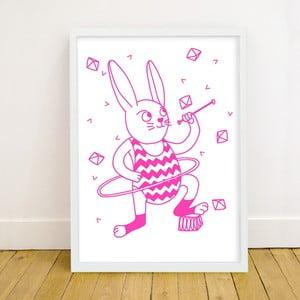 Fluorescencyjny plakat Bunny